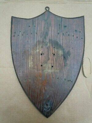 """Antique Used Oak Wood Taxidermy Game Trophy Wall Mount Board Plaque 13"""" x 18"""""""