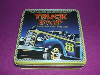 """Truck Stop: 60 Essential Rock """"N"""" Roll Driving Songs [CD] 3 x CD in Tin Case."""