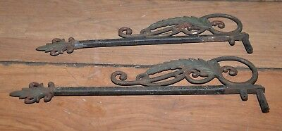 2 antique lamp swivel wall brackets collectible cast iron light holder vintage