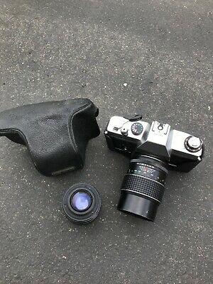 Carena SRH 1001 camera SLR VINTAGE WITH 2 LENS And Cover Rare