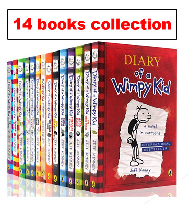 Jeff Kinney : Diary of A Wimpy Kid Comic Book Set 14 BOOKS [P~D~F Collection]