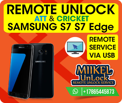 Remote Unlock Service Samsung S7 S7 Edge G930A / G935A / G891A / AT&T Cricket