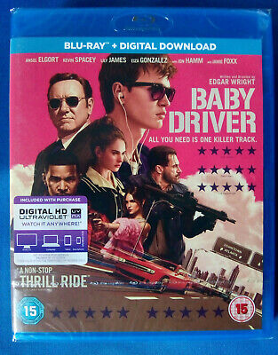 BABY DRIVER (2017) BLU RAY * NEW * SEALED * EDGAR WRIGHT * FREE 1st CLASS P&P *