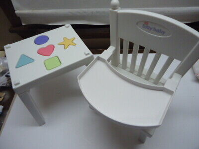 American Girl Bitty Baby Doll High Chair SHAPE Table TOY part retired no shapes