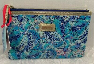 Lilly Pulitzer Zip Case Agenda Bonus Wave After Wave Pattern Retail $24.00 NWT