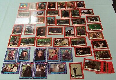 Robin Hood Topps Cards Prince Of Thieves 55 complete & Stickers Kevin Costner