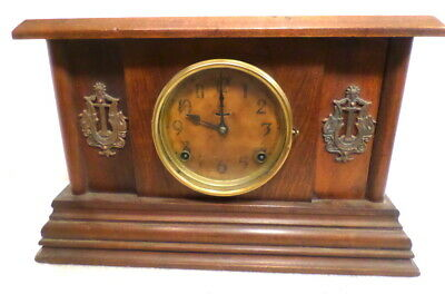1895 Sessions American Ingraham Mantle Clock 8 Day Hour Gong Half Hour Bell