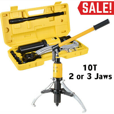 10T 3 in1 Hydraulic Gear Puller Pumps Oil Tube 3 Jaws 45#Steel Drawing Machine.