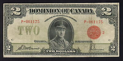 CANADA P-34b. 1923 2 Dollars..McCavour/Saunders.. Red Seal..  Fine