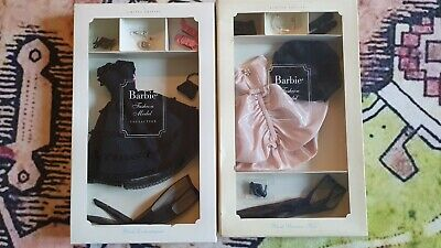 Blush Becomes Her & Black Enchantment Silkstone Barbie NRFB Gold Label