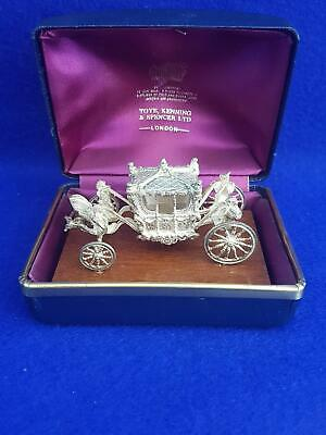 Toye Kenning Spencer ERII Jubilee HM Sterling Silver State Coach Miniature 75g