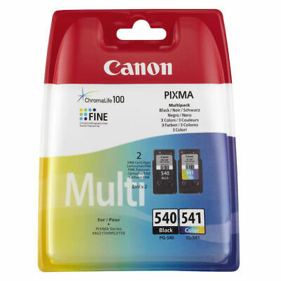 ORIGINALE MULTIPACK CANON PG540 CL541 NERO+COLORE Pixma MX515 525 535 MG4250