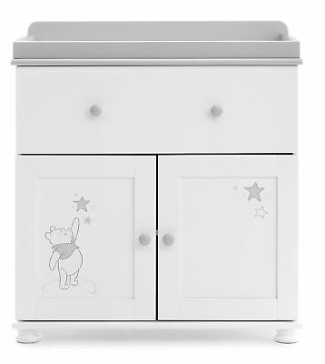 Obaby WINNIE POOH CLOSED CHANGING UNIT Nursery Furniture Dreams Wishes BN