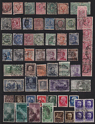 Italy Stamps Interesting Selection from Old Album GCV