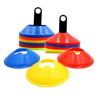 Lots 50 Soccer Training Cones Disc Holder Stand Football Agility Trainer Field