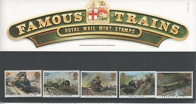 Famous Trains - Royal Mail mint stamp pack