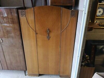 Retro Wardrobe in solid wood and pre 70's look and feel almost art deco