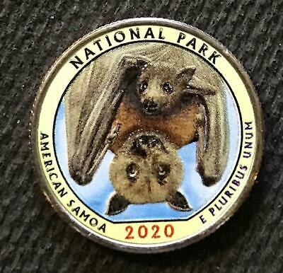 2020 S Colorized American Samoa National Park America The Beautiful Quarter