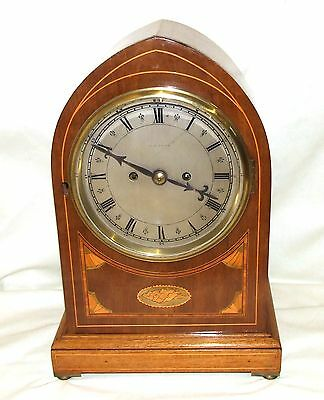 #Antique VICTORIAN Inlaid Mahogany DOUBLE FUSEE Bracket Mantel Clock  ALAN RAPER