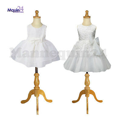 2 Child Mannequins Size 1-2 yr & 3-4 yr  Kids Dress Body Form with Wooden base