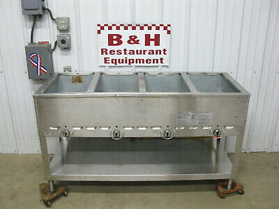Duke 4 Well Natural Gas Steam Table Cabinet Hot Food Bar Buffet Warmer 304 M