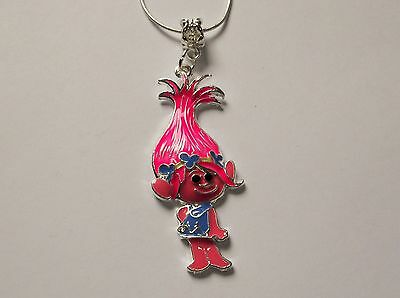 TROLLS MOVIE Inspired Large Charm NECKLACE PRINCESS POPPY