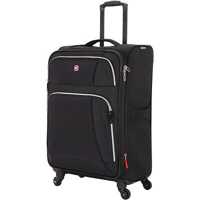 "SwissGear Travel Gear 7676 24.5"" Expandable Spinner Softside Checked NEW"
