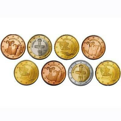 Zypern KMS 2008 ST 1 Cent - 2 Euro lose Nominal 3,88 €