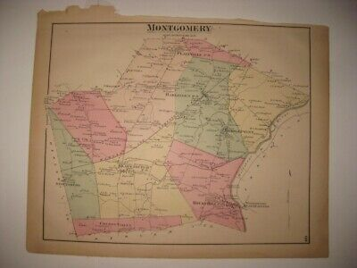 Antique 1873 Montgomery Township Rocky Hill Somerset County New Jersey Map Rare