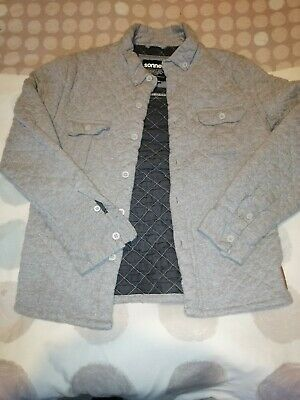 Boys Sonneti Grey Quilted Jacket Top Lumbar Age 10-12 years Lovely Condition