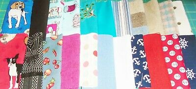 Fabric Offcuts - 100 Piece Job Lot for Quilting/Crafting -Full Description Below
