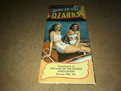 @ Vintage Missouri's Lake Of The Ozarks Foldout Map / Guide @