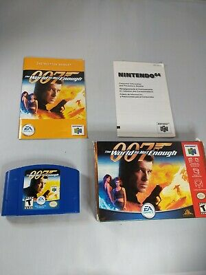 Nintendo 64 N64 007 The World Is Not Enough Grey Gray Video Game