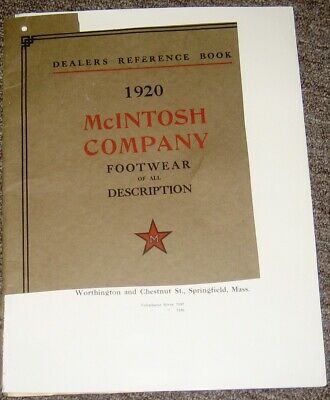McIntosh Company Footwear 1920 Dealers Reference Book Springfield Mass