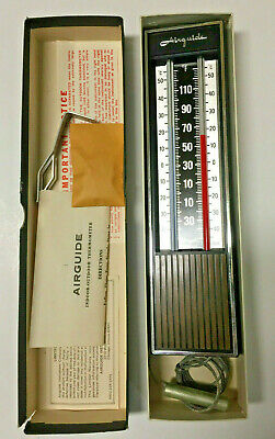 Airguide Thermometer 421-W Indoor Outdoor NIB Incudes Hardware & Instructions