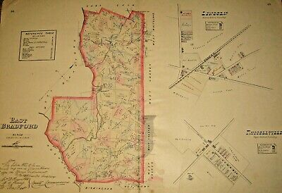 East Bradford Township Chester County Pa 1883 West Chester Large Color Map