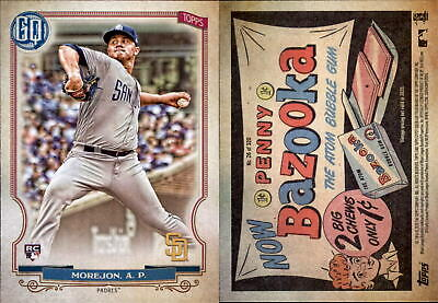2020 Topps Gypsy Queen ADRIAN MOREJON Bazooka Back Parallel Padres RC #26