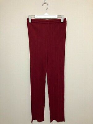 PLEATS PLEASE issey miyake pants bottoms trousers red size 2 NEW