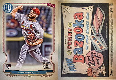 2020 Topps Gypsy Queen JUNIOR FERNANDEZ Bazooka Back Parallel Cardinals RC #87