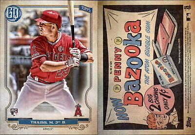 2020 Topps Gypsy Queen MATT THAISS Bazooka Back Parallel Angels RC #82