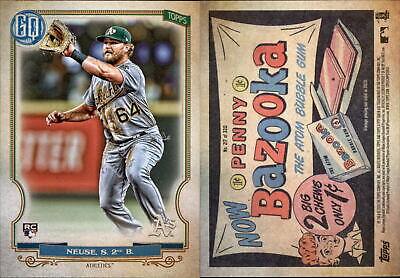 2020 Topps Gypsy Queen SHELDON NEUSE Bazooka Back Parallel Athletics RC #217