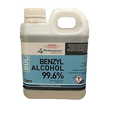 1L 99.6% PHARMACEUTICAL GRADE BENZYL ALCOHOL USP (UNDILUTED) Free Shipping!!