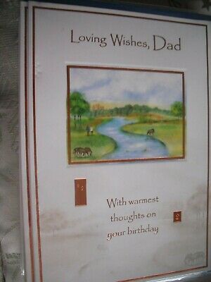 Loving Wishes DAD Warmest Thoughts On Your Birthday (By The River) Card