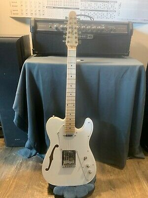 New 12 String Semi-Hollow Thinline Tele Style Electric Guitar