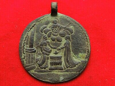 Ancient Bronze Medallion  Middle Ages