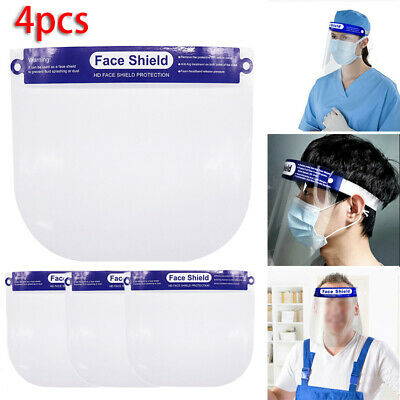 4pcs Safe Anti-fog Full Face Shield With Clear Face Transparent Protective Visor