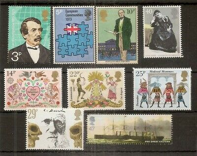 GB Commemorative Mint Stamps 1p-50p Range.  - £50 Face Value. - Cheap Postage