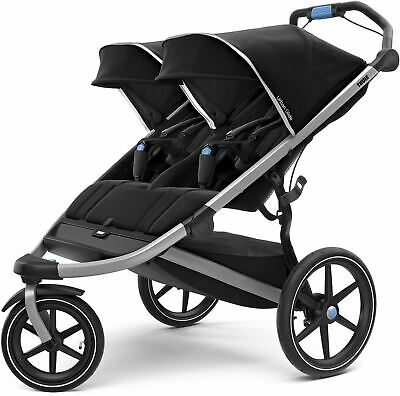 Thule URBAN GLIDE 2 DOUBLE STROLLER JET BLACK Pushchair/Buggy BN