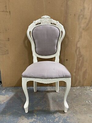 6 Shabby Chic Balloon Back Dinning Chairs