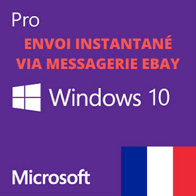 Windows 10 Pro Professionnel Licence Key Clé Activation 32/64Bits 100% Original